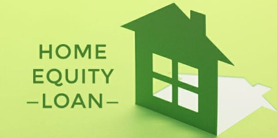 Green image of a home and the words Home Equity Loan