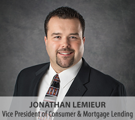 Jonathan LeMieur, Vice President of Consumer and Mortgage Lending