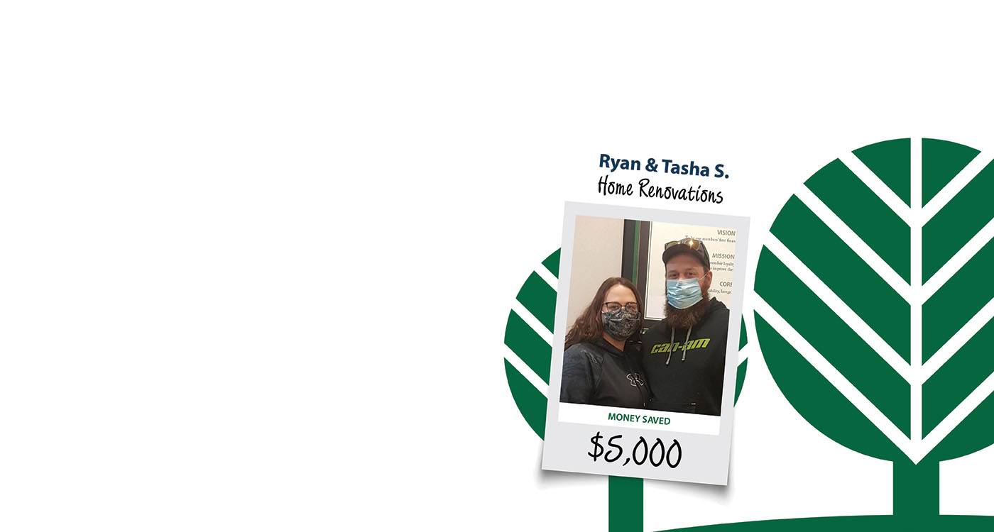 Home Page Banner Picturing Ryan and Tasha who saved $5,000 by refinancing with MMFCU.